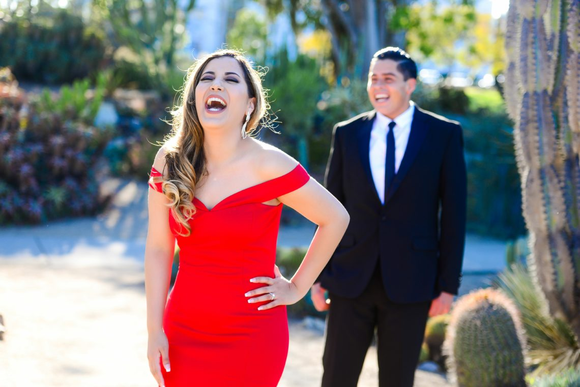 David and Alejandra had their beautiful engagement photos at Balboa Park and the Cactus Garden.